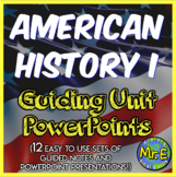 American History COMPLETE Guided Notes and PowerPoint Bundle: 12 total sets!