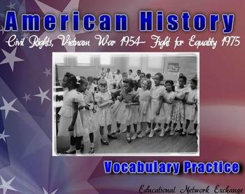 American History: Civil Rights, Vietnam War 1954- Fight fo
