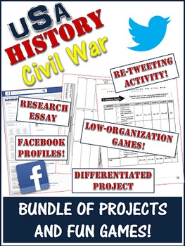 Civil War Project Evaluations And Simple Games Bundle