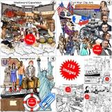 American History Clip Art Bundle Westward Expansion, Civil