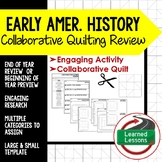American History Collaborative Quilt, Classroom Display, Collaborative Poster