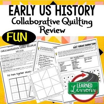 American History Collaborative Quilt, Classroom Display, C