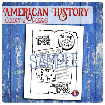 American History Coloring Activities Bundle