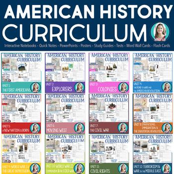 American History Curriculum Mega-Bundle