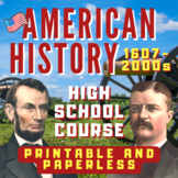 American History Course (NEW)! 195+ Files and 1000+ Pages/Slides, ANSWER KEYS!