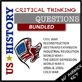 US History Questions BUNDLED
