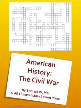 American History Crossword Puzzle Bundle