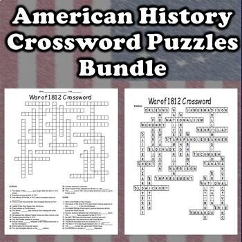 American History Crossword Puzzles