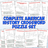 American History Crossword Puzzles - Complete Set