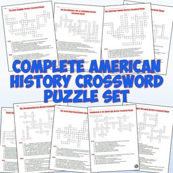 American History Crossword Puzzles - Complete Set