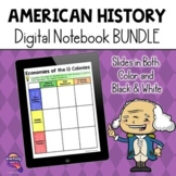 American History DIGITAL Interactive Notebook BUNDLE  / Di
