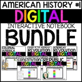 American History Digital Interactive Notebook BUNDLE (Part