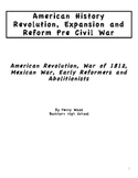 United State History Digital Text American Revolution to Pre-Civil War Reformers