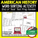 American History End of Year Review Activity, Back To School, Google Classroom