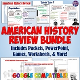 American History End-of-Year Review Resources Bundle