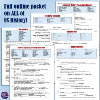US History End-of-Year Review Resources Bundle