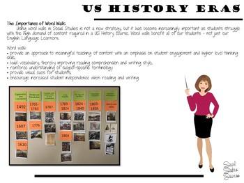 AMERICAN HISTORY ERAS WORD WALL