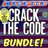 American History Escape Room Bundle: ALL US HISTORY ESCAPE ROOM BREAKOUTS!