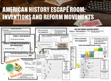 American History Escape Room: Inventions and Reform Movements