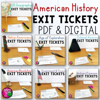 American History Exit Ticket Bundle US Geography - Westward Moverment