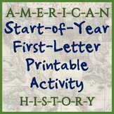 American History First-Letter Printable - Great for Back t