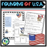American History: Founding of America Pack (Worksheets, Bookmarks, Writing)
