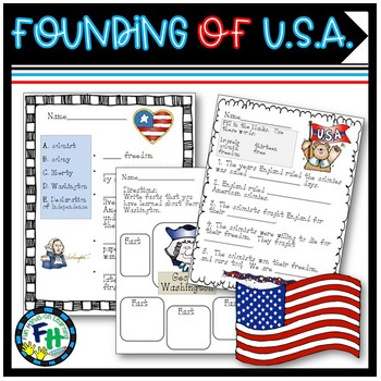 American History: Founding of America Pack (Worksheets, Bo