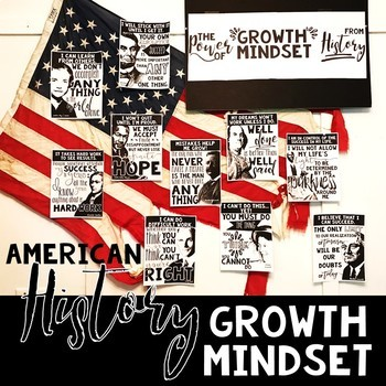 American History Growth Mindset Posters and Activity
