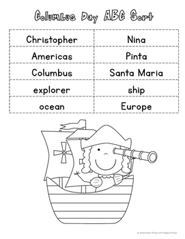 American History Holiday ABC Sort {cut & paste} K - 2nd
