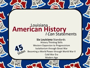 """American History """"I Can"""" Statements"""