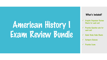 American History I Exam Review Bundle
