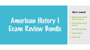 American History I Exam Review Bundle