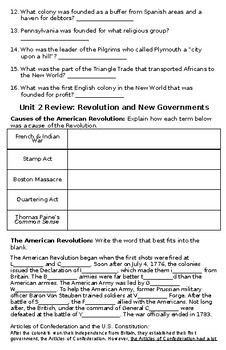 American History I Review Booklet
