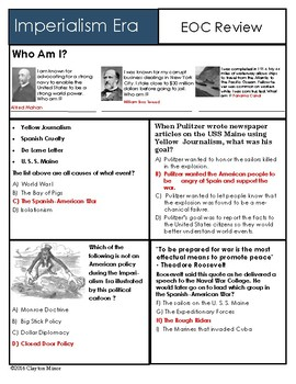 American History Imperialism EOC Review