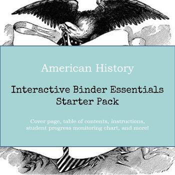 American History Interactive Binder Essentials Starter Pack
