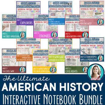 American History Interactive Notebooks ULTIMATE BUNDLE! Editable!