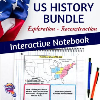 American History Interactive Notebook Exploration - Reconstruction Bundle 8th Gr
