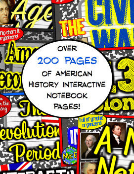 American History Interactive Notebook Bundle! 10 Notebooks for US History!
