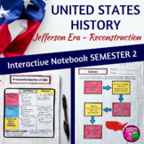 American History Interactive Notebook Jefferson Era - Reconstruction 8th Grade