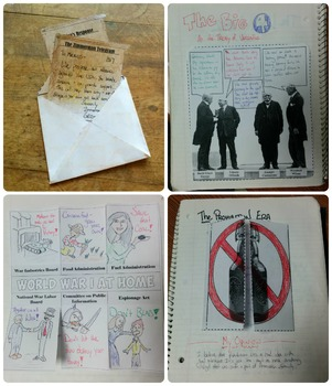 World War I & the Roaring 20's Interactive Notebook Pages