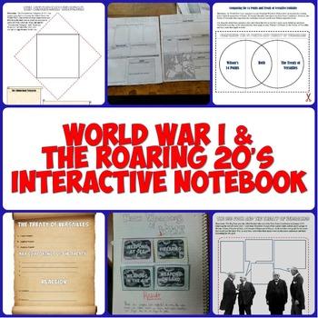 World War I & the Roaring 20's Interactive Notebook Set