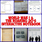 World War I & the Roaring 20's Interactive Notebook Set