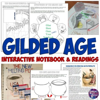 Gilded Age Interactive Notebook Set for American History