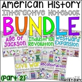 American History Interactive Notebook Graphic Organizers Bundle PART 2