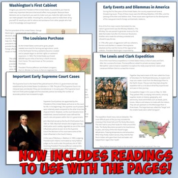American History Interactive Notebook for the Constitution and Early America