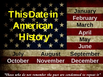 American History PowerPoint Daily Facts January