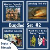 American History Digital Unit-Printable Lapbooks Bundled #2 | Distance Learning