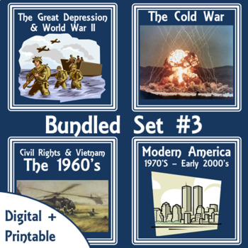 American History Lap Books - Bundled Set #3