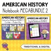 American History MEGA BUNDLE 2: Digital & Paper Interactive Notebook