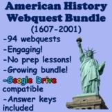 American History Webquest Bundle (1607-2001)